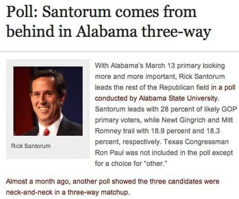 Santorum Comes From Behind