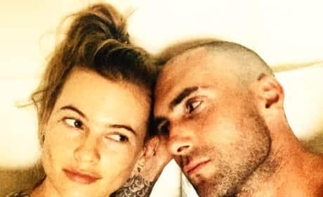 Adam Levine Shaved Head