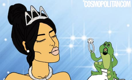 Kim and Kanye in the Princess and the Frog