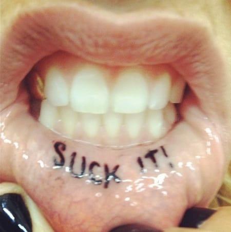 Suck It Tattoo