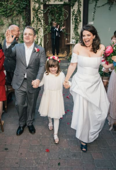 Patton Oswalt and Meredith Salenger Wedding