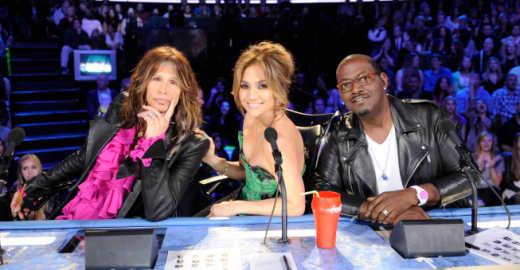 Steven Tyler, J. Lo and Randy Jackson