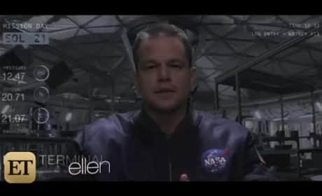 Kim Kardashian, Matt Damon Explore Uranus in Hilarious Martian Parody