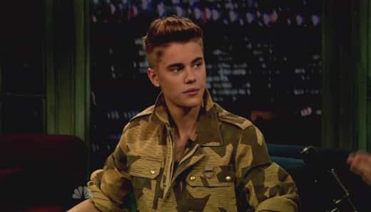 Justin Bieber Talk Show Photo