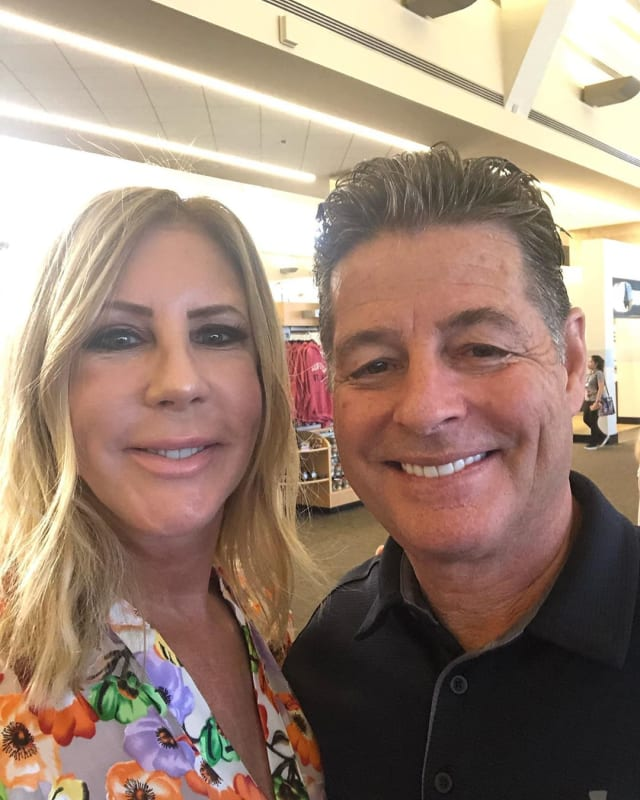Vicki gunvalson selfie with steve lodge