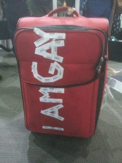 I Am Gay Luggage Insult