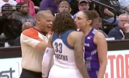 Diana Taurasi Kisses Seimone Augustus During WNBA Playoff Game, Whistled For Foul