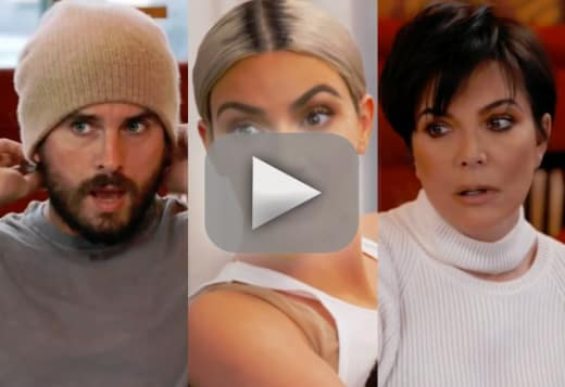 Kris jenner and scott disick kim kardashian scares the eff out o