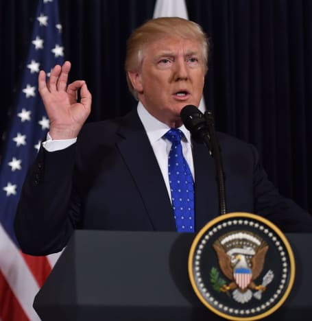 Donald Trump at the Lectern