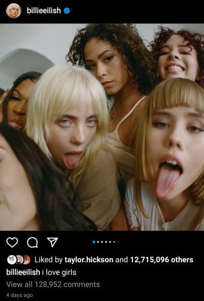 Billie Eilish IG - I love girls