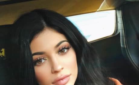 Kylie Jenner Car Selfie