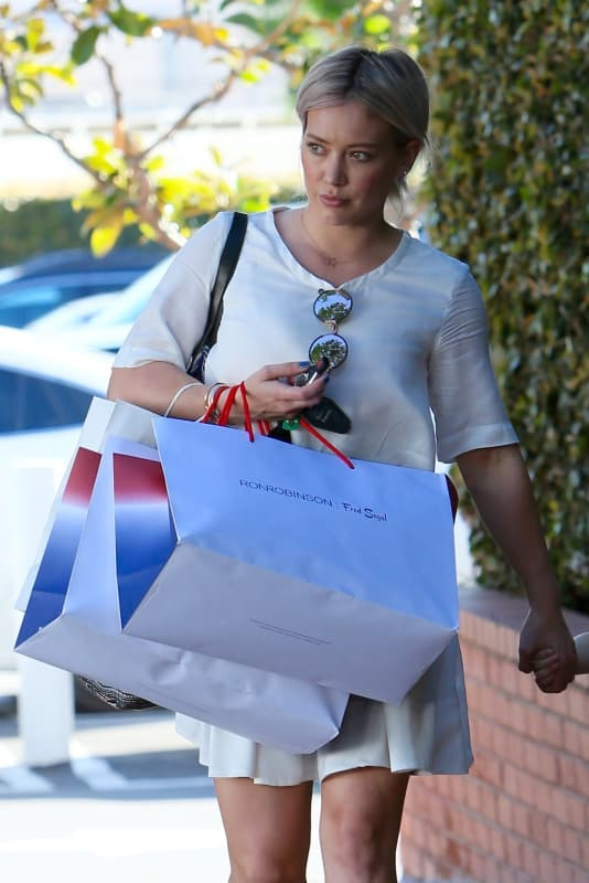 Hilary Duff Shops at Fred Segal