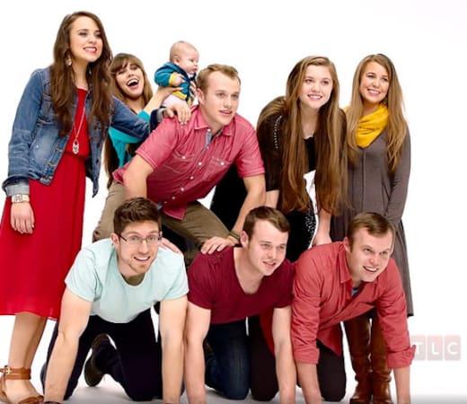 The Duggar family: photo