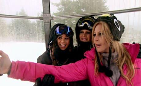 Selfies in the Ski Lift