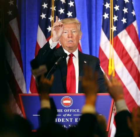 Donald Trump Holds Press Conference