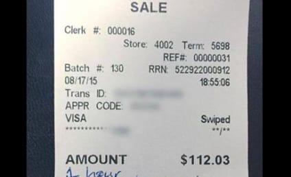 "Spurned New Jersey Waitress Gets ""LOL"" Tip, Receipt Goes Viral"