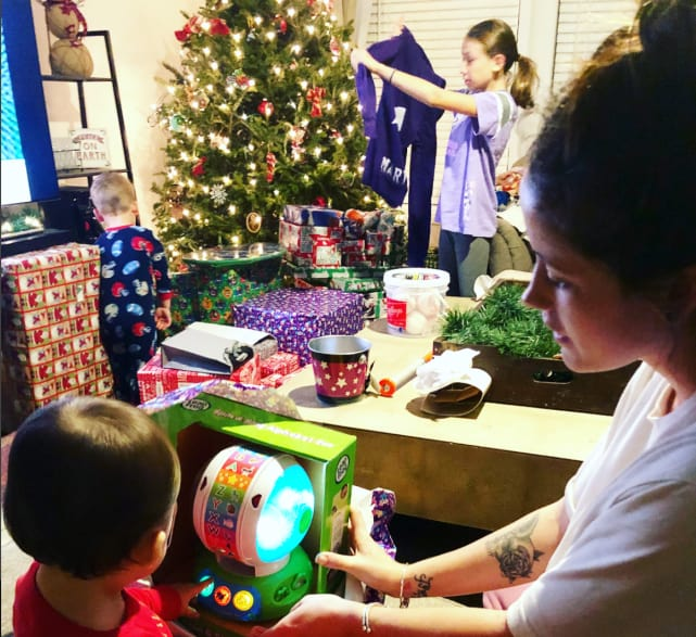 Jenelle evans christmas photo