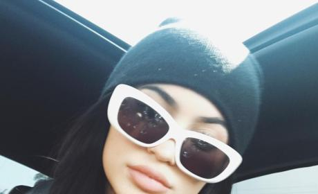 Kylie Jenner in Ugly Sunglasses