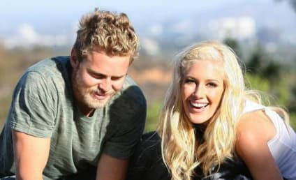 Heidi Montag Takes Her Three Dogs For a Walk