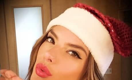 Alessandra Ambrosio Christmas Pic