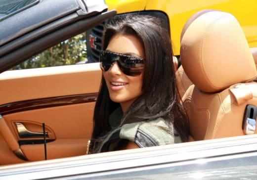 Kim Behind the Wheel