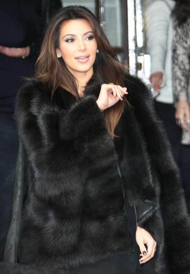 Kim Kardashian in Fur