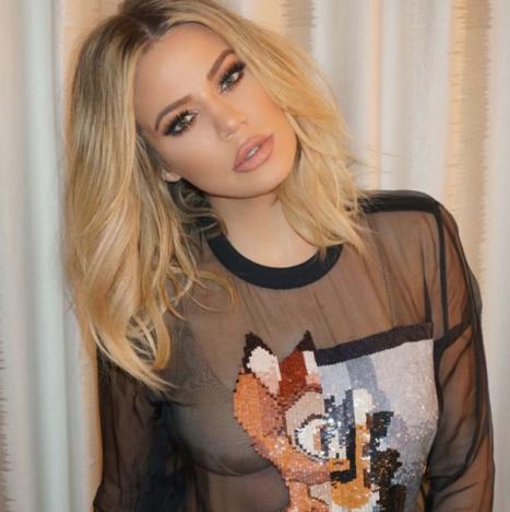 Khloe Kardashian head tilt.