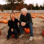 Amy Roloff and Chris Marek Sit Among the Pumpkins
