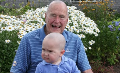 George H.W. Bush Shaves Head in Solidarity with Cancer-Stricken 2-Year Old