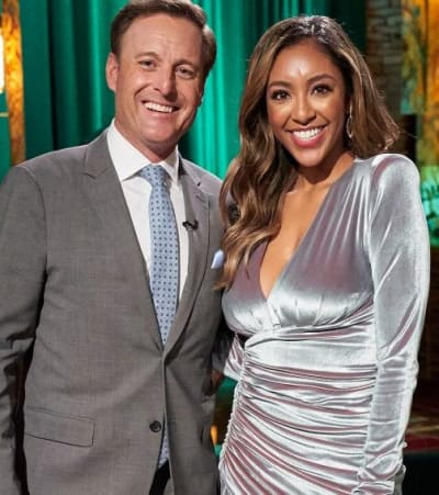 Chris Harrison and Tayshia Adams