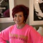 Sharon osbourne big pink sweatshirt
