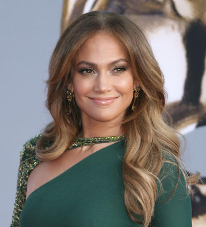 Smiling Jennifer Lopez