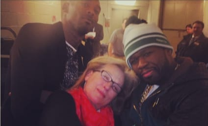 Meryl Streep Poses with Fiddy and Kobe, Goes Gangsta