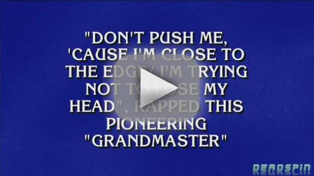 Alex Trebek Raps on Jeopardy