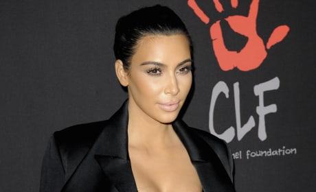 Kim Kardashian Poses in LA