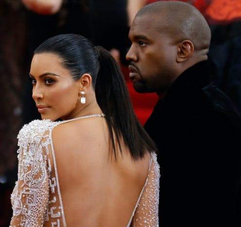 Kim Kardashian and Kanye West in 2018