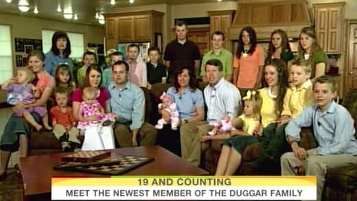 Jim Bob, Michelle Duggar, Family