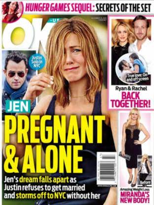 Jennifer Aniston Pregnant, Alone