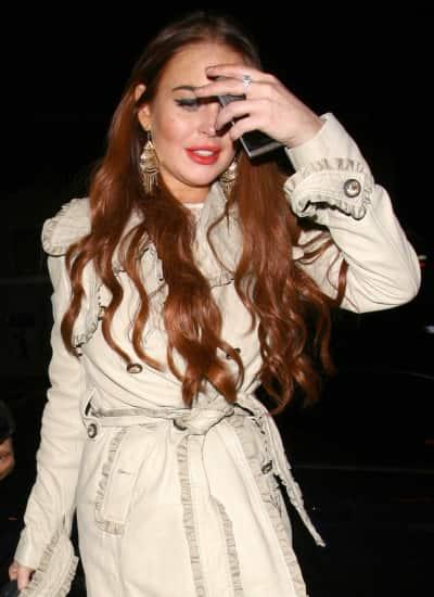 Lindsay Lohan's Red Hair