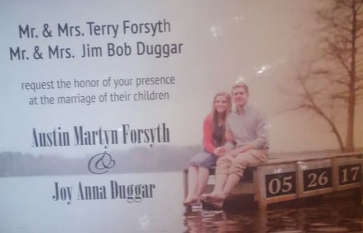 Joy-Anna Duggar Wedding Invitation