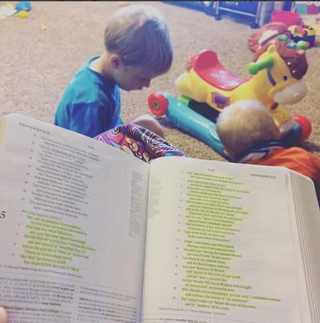 Jill Duggar Bible Post