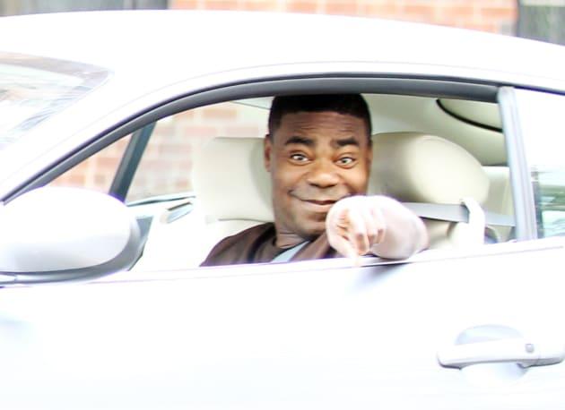 Tracy Morgan in a Car