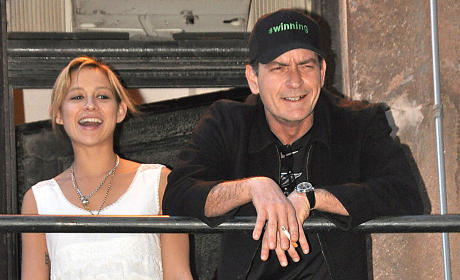 Charlie Sheen and Bree Olson