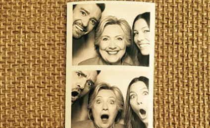 Hillary Clinton Acts All Silly with Justin Timberlake and Jessica Biel