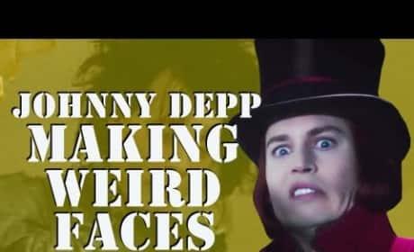 Johnny Depp Weird Faces
