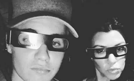 Justin Bieber and Kourtney Kardashian Photo