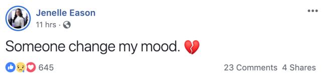 Jenelles bad mood