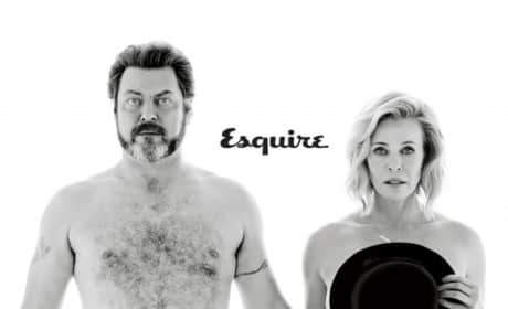 Chelsea Handler and Nick Offerman Esquire Cover