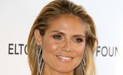 Heidi Klum Oscars Party Dress: MAJOR Cleavage Alert!