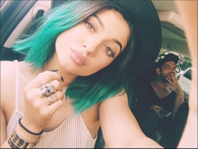 Kylie Jenner with Green Hair